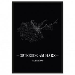 Stadtposter Osterode am Harz - black