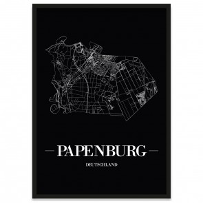 Stadtposter Papenburg - black