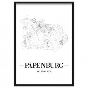 Stadtposter Papenburg Stadtplan