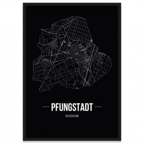 Stadtposter Pfungstadt - black