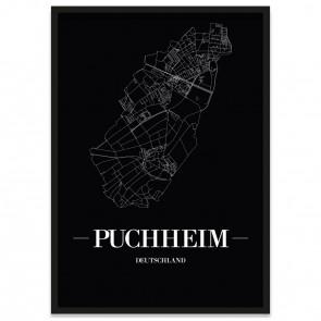 Stadtposter Puchheim - black