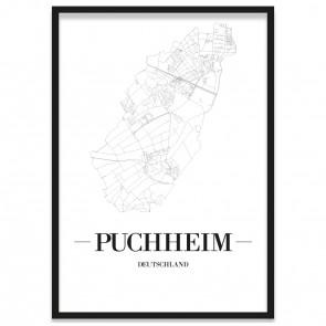 Stadtposter Puchheim Bilderrahmen