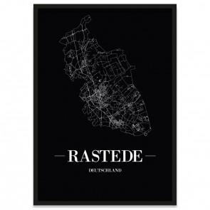 Stadtposter Rastede - black