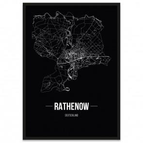 Stadtposter Rathenow - black