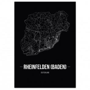 Stadtposter Rheinfelden (Baden) - black