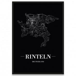 Stadtposter Rinteln - black