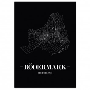 Stadtposter Rödermark - black