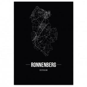Stadtposter Ronnenberg - black