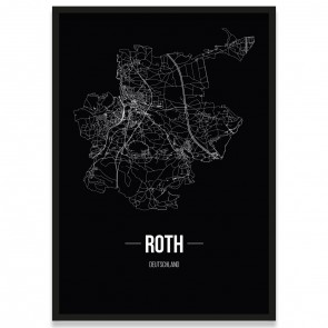 Stadtposter Roth - black