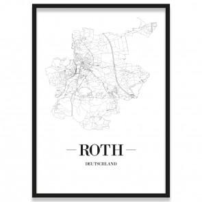 Stadtposter Roth Bilderrahmen