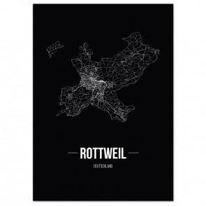 Stadtposter Rottweil - black