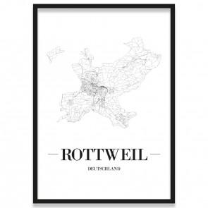 Stadtposter Rottweil Bilderrahmen