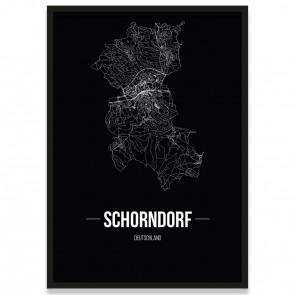 Stadtposter Schorndorf - black