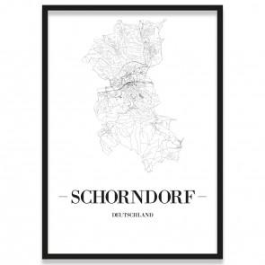 Stadtposter Schorndorf Rahmen