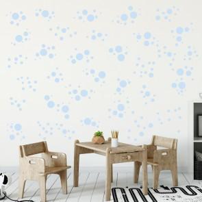 Wandsticker Set Mega - Pastell Punkte Blau
