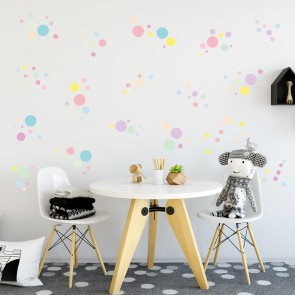 Wandsticker Set XL - Pastell Konfetti