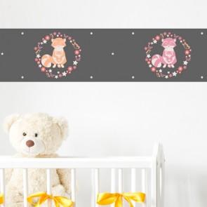 Bordüre Kinderzimmer Waschbären