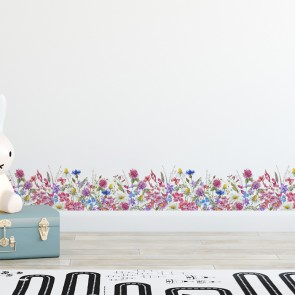 Bordüre Aquarell Blumen Transparent - 2 m