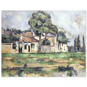 Poster Paul Cézanne - Am Ufer der Marne (Bords de la Marne)