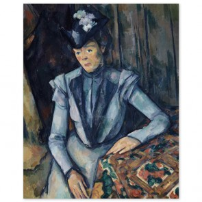 Poster Paul Cézanne - Dame in Blau