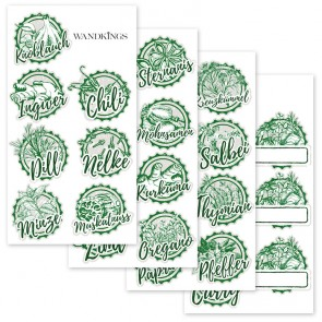Gewürzaufkleber grün, 30 Stück