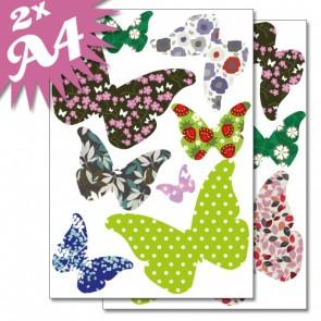 Fensteraufkleber Schmetterlinge mit bunten Mustern