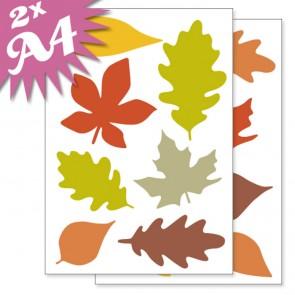 Fensteraufkleber Herbst Blätter