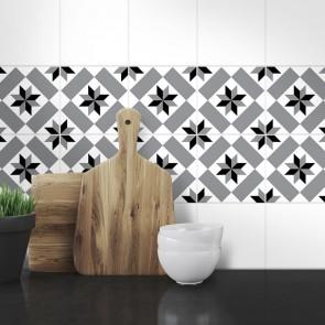 Muster Fliesenaufkleber Aileen fürs Bad und die  Küche