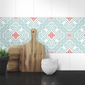 Muster Fliesenaufkleber Alis für die Küche