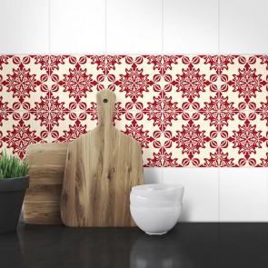 Muster Fliesenaufkleber Isabelle für die Küche