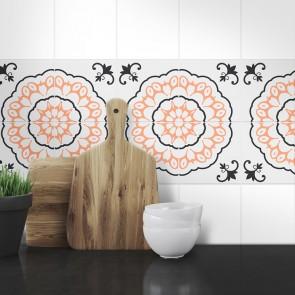 Muster Fliesenaufkleber Lilli für die Küche