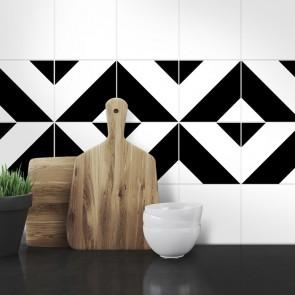 Muster Fliesenaufkleber Littos für die Küche