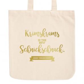 JUNIWORDS Pastell Jutebeutel Krimskrams is the new Schnickschnack