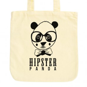 JUNIWORDS Pastell Jutebeutel Hipster Panda