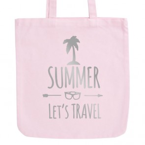 JUNIWORDS Pastell Jutebeutel Summer - Let's Travel