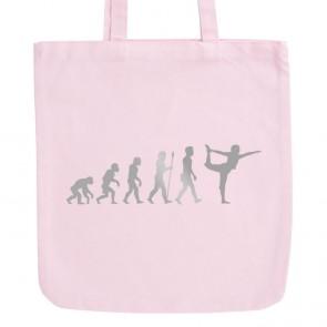 JUNIWORDS Pastell Jutebeutel Evolution Yoga