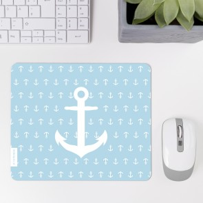 JUNIWORDS Mousepad Anker hellblau