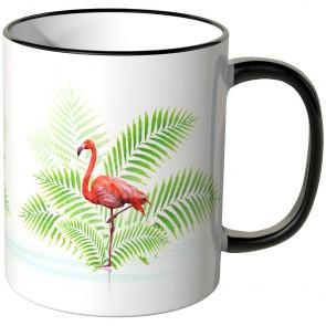 JUNIWORDS Tasse Flamingo im Wasser