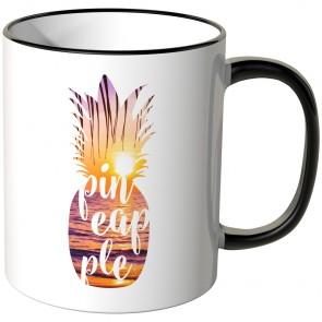 JUNIWORDS Tasse Ananas Design-3-Sonnenuntergang