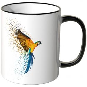 JUNIWORDS Tasse Papagei in Kristall-Optik