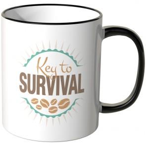 JUNIWORDS Tasse Key to SURVIVAL