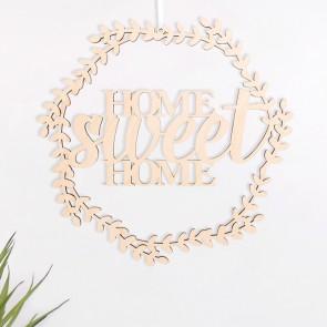 "Blumenkranz ""Home Sweet Home"" aus Birkenholz"