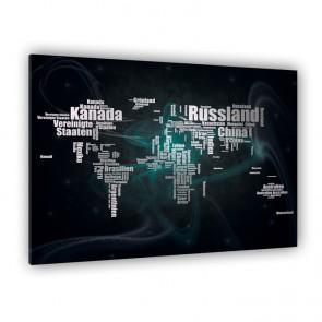 Leinwandbild - Geographie - Geography - Kontinente