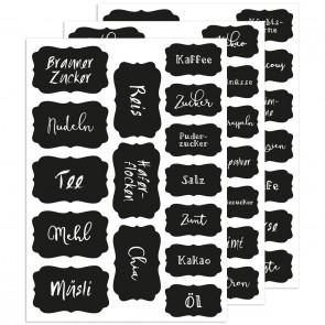 Küchen - Etiketten Romance, 45 Stück auf 3 Bögen