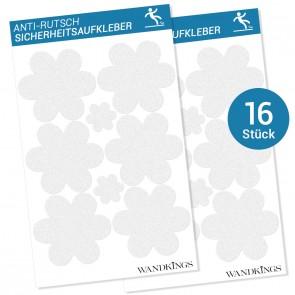 Anti-Rutsch-Sticker Flowers, 16 Stück