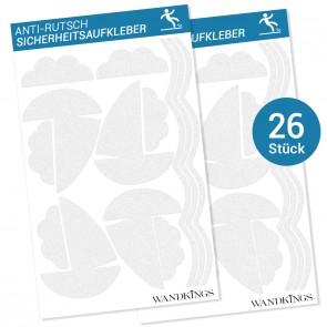 Anti-Rutsch-Sticker Boote, 26 Stück