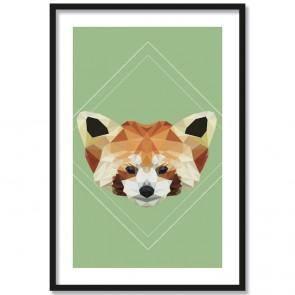 Poster Panda Lowpoly