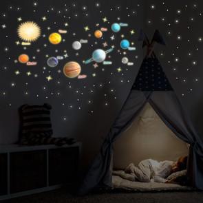 Leucht-Planeten-Set + Sterne und Sternschnuppen (642 Aufkleber)