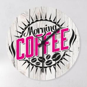 Motiv Uhr Coffee