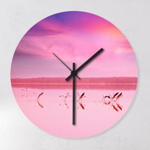 Uhr Pink Flamingos